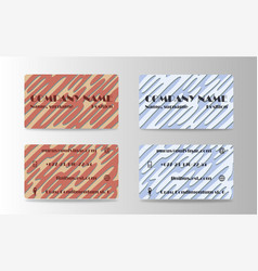 business card creative abstract visit card vector image