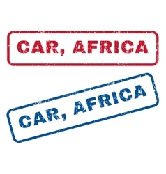 Car Africa Rubber Stamps vector image