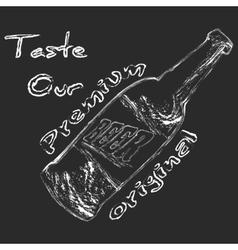 Chalk Beer bottle vector image vector image
