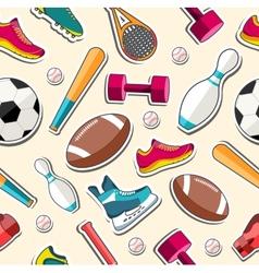 Circular concept of sports equipment sticker vector image vector image