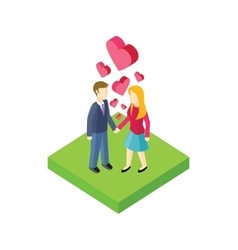 Couple Walk Design Flat vector image vector image