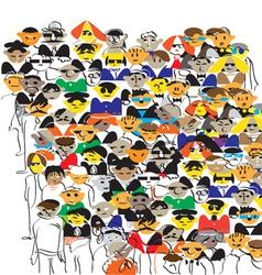 Crowd color vector