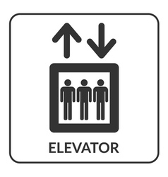Elevator icon Lift symbol vector image