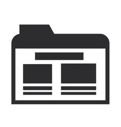 file folder icon vector image vector image