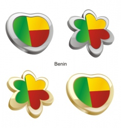 flag of Benin vector image vector image