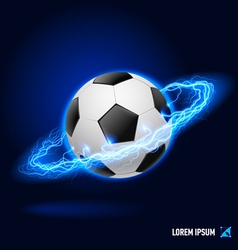Football high voltage vector image vector image