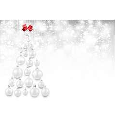 holiday background with white christmas tree vector image vector image