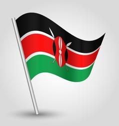 Kenyan flag on pole vector