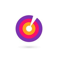 Letter o number 0 target logo icon design template vector