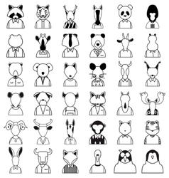 Line animals icon vector