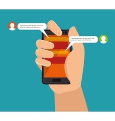 Message phone mobile chat bubble vector