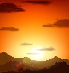 Mountain landscape stock vector
