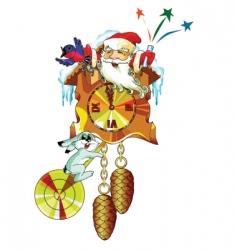 new year clock vector image