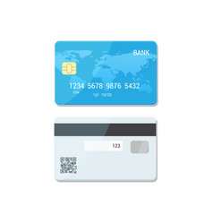 Payment flat concept blue credit card - vector
