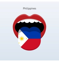 Philippines language abstract human tongue vector