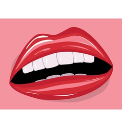 Red lips1 vector image