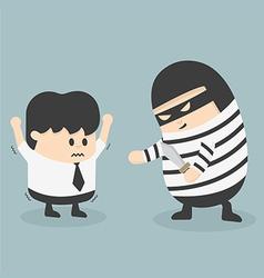 robbing a businessman vector image