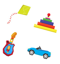set of geometric toys vector image vector image