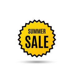 Summer sale special offer price sign vector
