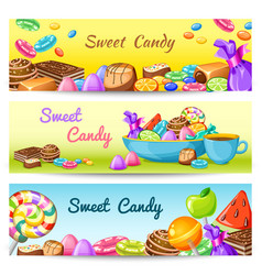 Sweet Candy Banner Set vector image