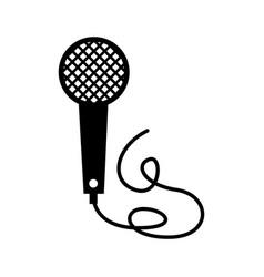 Vintage microphone cable music karaoke vector