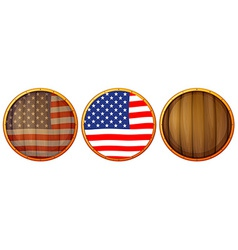 Wooden us icons vector