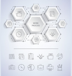 work process infographic on vector image
