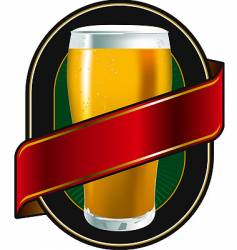 Beer green label vector