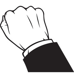 Hand knocking icon vector