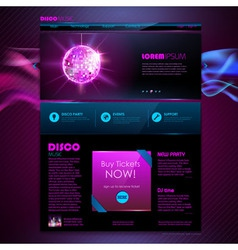 Web site template design Disco background vector image