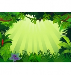 jungle frame vector image