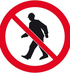 No Admittance Safety Sign vector image