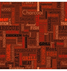 Bbq word seamless pattern vector