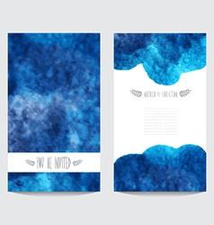 Watercolor cards set vector