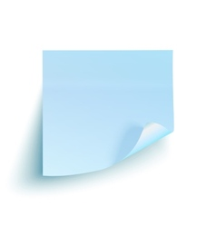Blue sticky note isolated on white background vector