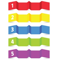 Tag label set color vector