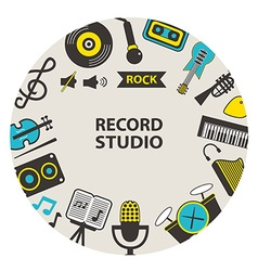 Record studio emblem vector