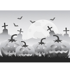 Gray halloween pumpkin background vector
