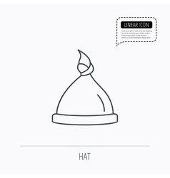 Baby hat icon newborn cap sign vector
