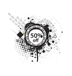 50 discount banner vector image