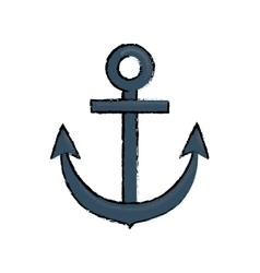 Anchor marine emblem vector