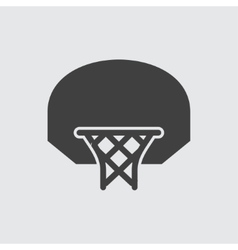 Basketball basket icon vector image