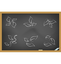 blackboard leaf icons vector image vector image