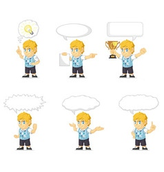 Blonde rich boy customizable mascot 21 vector