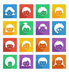bright kids icons vector image vector image