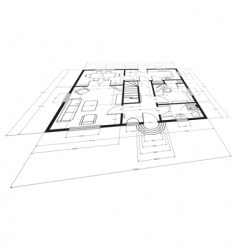 building plans vector image