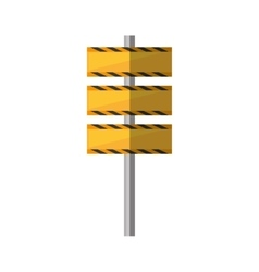 Cartoon barrier under construction road vector