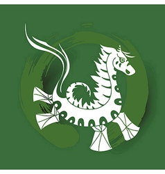 Chinese zodiac Happy New Year of the Horse vector image vector image