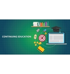Continuing education process vector