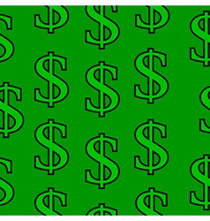 Dollar symbol seamless pattern vector image vector image